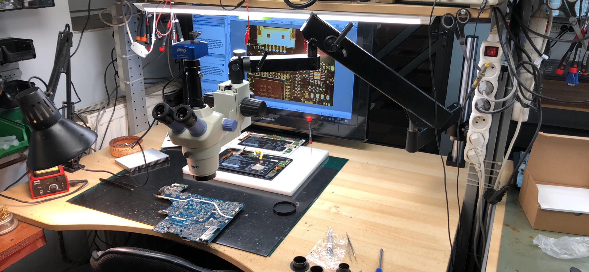 Praca z mikroskopem